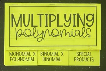 Multiplying Polynomials (Foldable)