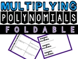Multiplying Polynomials Foldable
