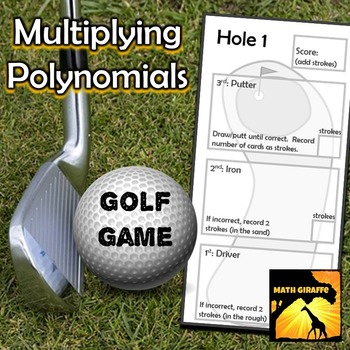 Multiplying Polynomials - Golf Game
