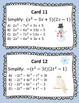 Multiplying Polynomials Growth Mindset Activity Winter Themed
