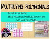 Multiplying Polynomials INB Flipbook Student WS and QR Cod