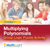 Multiplying Polynomials Logic Puzzle Group Activity| Good