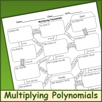 Multiplying Polynomials Maze