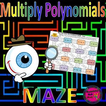 Multiplying Polynomials Maze Activity