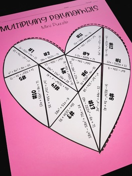 Multiplying Polynomials (Mini Heart Puzzle)