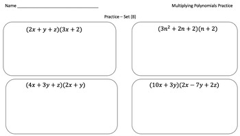 Multiplying Polynomials (Practice Problems Crafted for Every Learner)