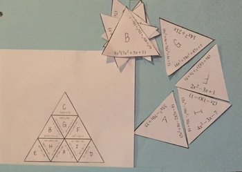 Multiplying Polynomials Puzzle