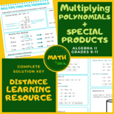 Multiplying Polynomials + Special Products Algebra 2 Lesso