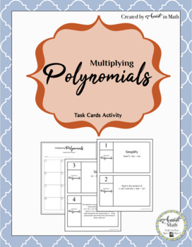 Multiplying Polynomials Task Activity