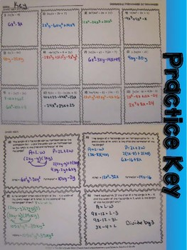 Multiplying Polynomials by Monomials Foldable, INB, Practice, Exit