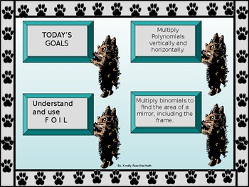 Power-point:  Multiplying Polynomials with GUIDED NOTES