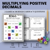 Multiplying Decimals Math Bingo Review Game