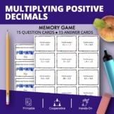 Multiplying Positive Decimals Math Memory Game
