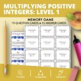 Multiplying Positive Integers Level 1 Math Memory Game
