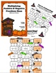 Multiplying Positive & Negative Fractions - Matching Cards & Maze (Halloween)