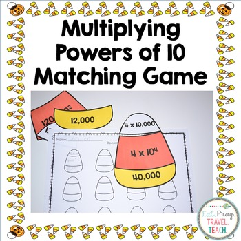 Multiplying Powers of 10 Matching Activity