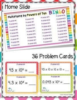 Multiplying Powers of Ten Digital Bingo