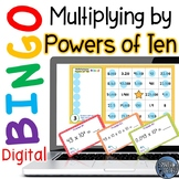 Multiplying Powers of Ten Digital Bingo