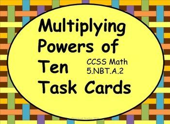 Multiplying Powers of Ten Task Cards