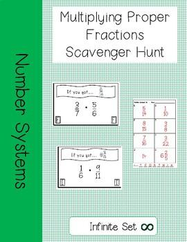 Multiplying Proper Fractions Scavenger Hunt