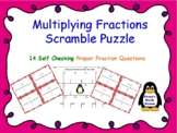 Multiplying Proper Fractions Scramble Puzzle
