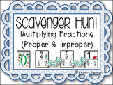 Multiplying Proper and Improper Fractions Scavenger Hunt