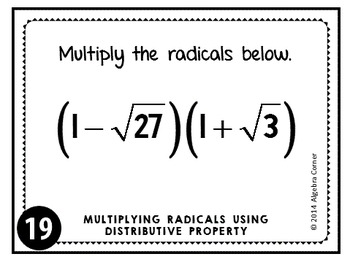 Multiplying Radical Expressions