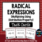 Multiplying Radical Expressions Task Cards (using the Distributive Property)