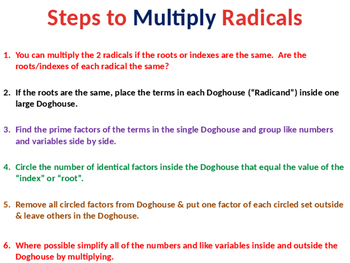 Multiplying Radicals