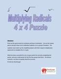 Multiplying Radicals 4x4 Math Puzzles