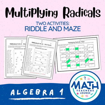 Multiplying Radicals: Line Puzzle Activity