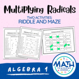 Multiplying Radicals: Line Puzzle Activity