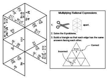 Multiplying Rational Expressions Game: Math Tarsia Puzzle