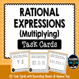 Multiplying Rational Expressions Task Cards