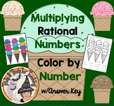 Multiplying Rational Numbers Color by Number Multiply Decimal Fractions Integers