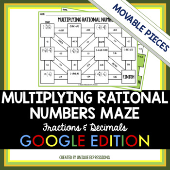 Multiplying Rational Numbers Digital Maze Activity - Fractions & Decimals