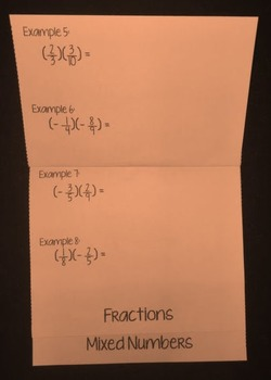 Multiplying Rational Numbers (Foldable)