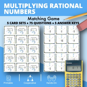 Multiplying Rational Numbers Matching Game