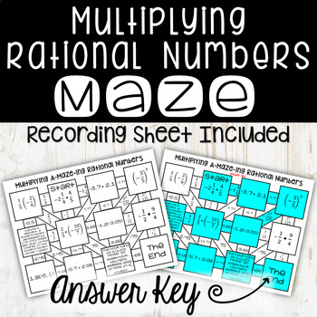 Multiplying Rational Numbers Maze