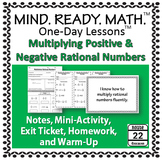 Multiplying Rational Numbers Notes