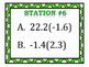 Multiplying Rational Numbers (Fractions & Decimals) Stations Bundle