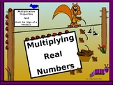 Power-Point:  Multiplying Real Numbers in Algebra