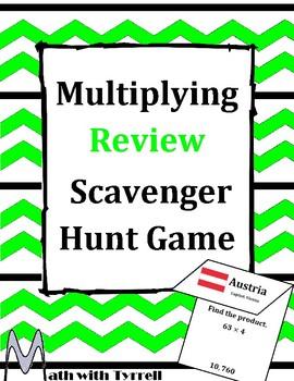 Multiplying Review Scavenger Hunt Game