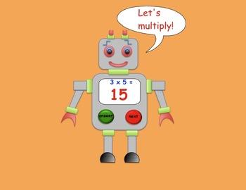 Multiplying Robot Interactive SMARTboard Activity Gr. 3 - 5