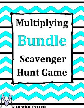 Multiplying Scavenger Hunt Game Bundle