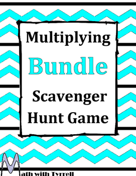 Multiplying Scavenger Hunt Game Bundle
