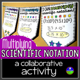 Scientific Notation Pennant Activity for Multiplying
