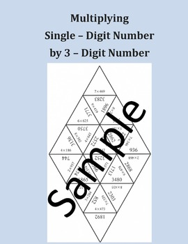 Multiplying Single – Digit Number by 3 – Digit Number – Math puzzle