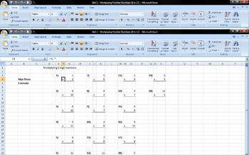 Multiplying Single Digit Numbers  ( Grades 2 + )
