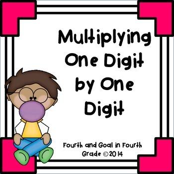 Multiplying Single Digit by Single Digit Numbers
